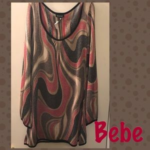 Bebe metallic party dress Size Lg
